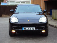 PORSCHE CAYENNE 3.2 V6 TIPTRONIC S 4WD 4X4 AUTO BLACK FULLY LOADED EXTRAS+F.S.H+2KEYS+MOT £7950