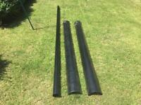 """New 6"""" cast iron guttering and down pipe"""