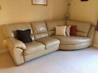 Natuzzi Italian large leather sofa