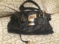Chloe Paddington black leather handbag