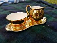 Vintage crown devon milk and sugar tray