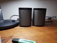 2 x Sonos Play 1 (One) speakers for sale - in great working condition. Grab them now!