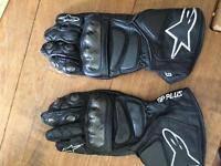 Alpinestars go plus gloves size large
