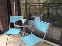 Balcony set of table and 2 chairs