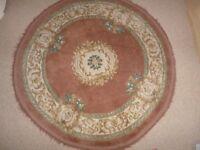 Oriental Round Rug,