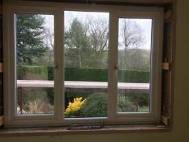 Double glazed wooden window