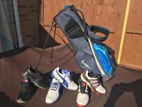 Golf stand bag & shoes