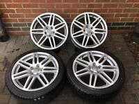 """Genuine Audi A3 S-Line wheel set 18"""" with two tyres"""