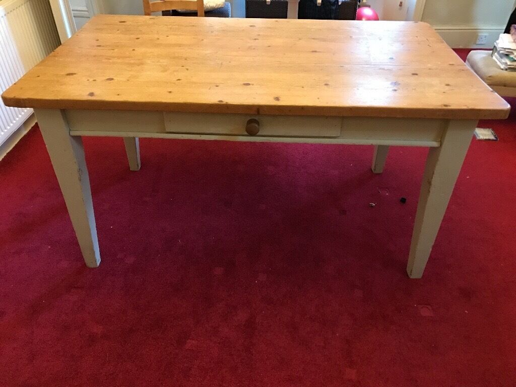 solid pine dining table with 6 chairs in southsea hampshire