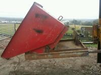 Forklift tipping skip ideal for scrap rubbish building work etc