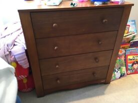 John Lewis cot bed with changer top (and matching drawers)