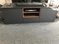 Next grey gloss TV unit
