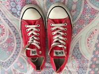Red converse size 9 adults