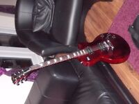 Gibson Les Paul Electric Guitar 70's Tribute Wine Red Dirty Fingers PickUps not Studio