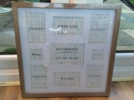 """Photo frame for 9 photos 17"""" x 17"""" brand new from Matalan"""
