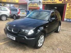 2006 BMW X3 2.0d 6 SPEED MANUAL 115 000 MILES BLACK HPI CLEAR