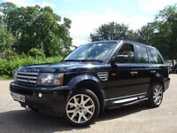 !!! LAND ROVER RANGE ROVER SPORT 2.7 AUTOMATIC DIESEL !!! 2007 PLATE SAT NAV LEATHERS BLACK 4X4 JEEP