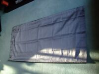 Pair of Grey Ring Hung Curtains - approx 167 cms x 181 cms