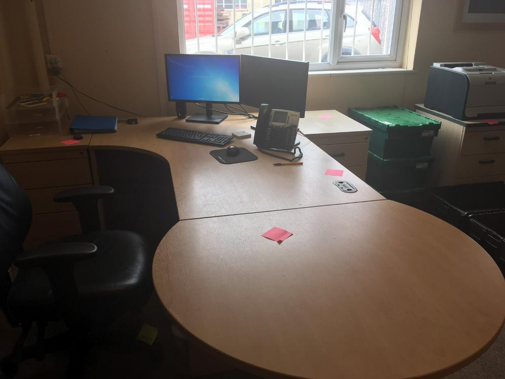 Various Pieces Of Office Furniture