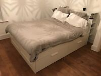 IKEA BRIMNES - King Size Bed with draws and headboard
