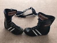 Boots size 6.5 and head guard