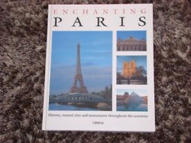 Enchanting Paris book, brand new. Lots of lovely photos. £2.00. Torquay. Hardback, larger than A4.