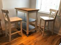 Ikea Kitchen Trolley And Stools