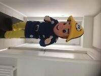 UK SELLER brand new Professional Fancy Dress DELUX Fireman Sam Mascot Costume ADULT size