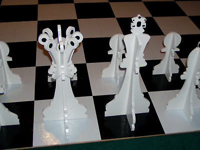 GIANT CHESS SET PATTERN - FOR 64 SQUARE FOOT BOARD