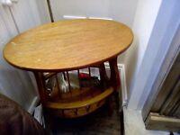 Unique wood bedside table, £5