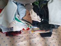 Big box of 3-6, 6-9 months clothes