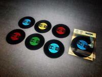 Set of 6 'record' coasters