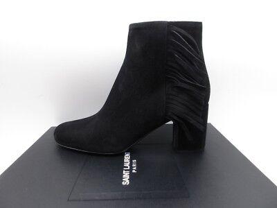 Yves Saint Laurent Babies 70 Fringe Zip Ankle Boots Booties 36 6