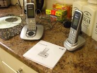 Twin Panasonic Home Telephones with built in answering machine