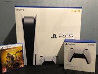 BRAND NEW PS5 DISC EDITION + EXTRA CONTROLLER + MORTAL KOMBAT 11 ULTIMATE