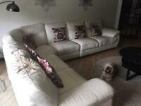 6 seater white/cream corner couch