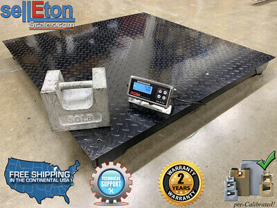 5 Year Warranty 5000 Lb X 1lb 36x36 Floor Scale Pallet Scale With Indicators