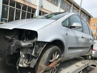 57 VW SAHARAN 1.9 TDI 6 SPEED MANUAL THIS CARS FOR PARTS FOR ANY PARTS CALL ON