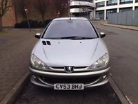 2003 REG PEUGEOT AUTOMATIC, 1.4 PETROL CHEAP RUN ABOUT, LOW INSURANCE, AND 12 MONTH MOT,