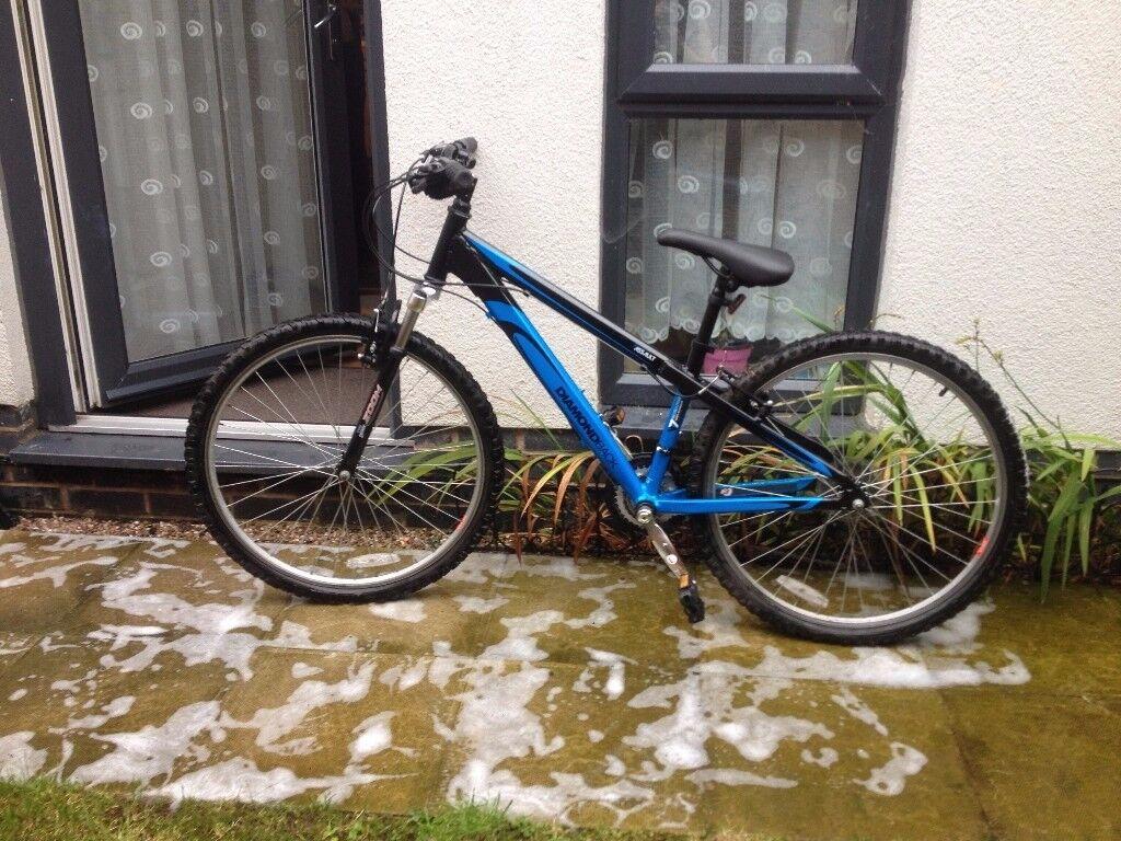 "Diamondback Assault Mountain bike, 26""wheels , Shimano gears used handful of times then dry stored."