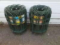 2 Rolls Green PVC Coated Fencing Wire
