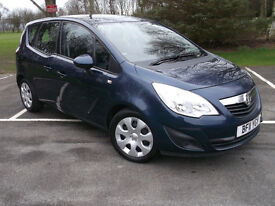 11 VAUXHALL MERIVA 1.7 CDTi 12 MONTH MOT 1 OWNER LOW MILAGE BLUE GOOD SPEC zafira astra focus cmax