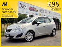 VAUXHALL MERIVA 1.7 S 5d AUTO 108 BHP Apply for finance Online tod (silver) 2014