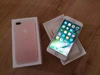 Iphone 7 plus 32gb Rose gold o2/giffgaff/tesco No offers please