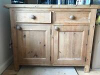 Solid pine kitchen base unit