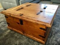 Creations Large Mexican Pine Double Merchant's Chest/ Coffee Table