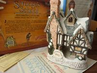 David Winter Cottages inc: Mad Baron Fourthrites Folly/Scrooges School/Mr Fezziwigs Emporium