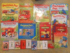 Lots of Postman Pat books and stories