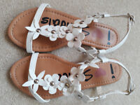 Girls white sandals, by Next. Size 13