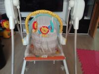 Fisher-Price New-Born Baby 3-in-1 Swing-N-Rocker with Songs and Sounds, Suitable from Birth